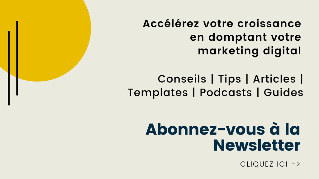 Abonnement Newsletter Marketing Digital