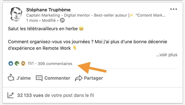 Commentaires Linkedin